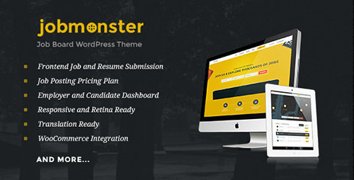 ThemeForest - Jobmonster v3.4.0 - Job Board WordPress Theme