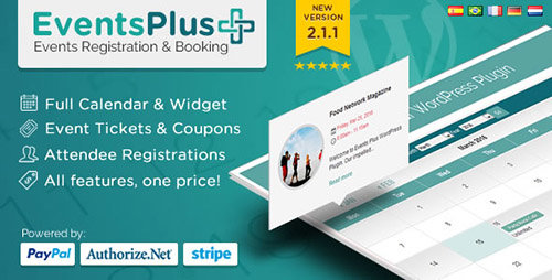 CodeCanyon - Events Calendar Registration & Booking v2.1.1 - WordPress Plugin