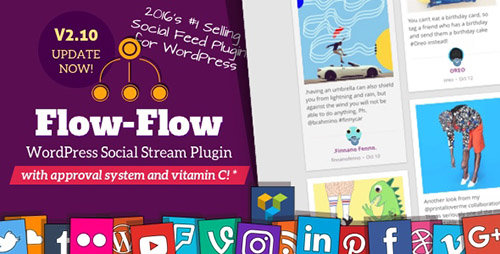 CodeCanyon - Flow-Flow v2.10.10 - WordPress Social Stream Plugin