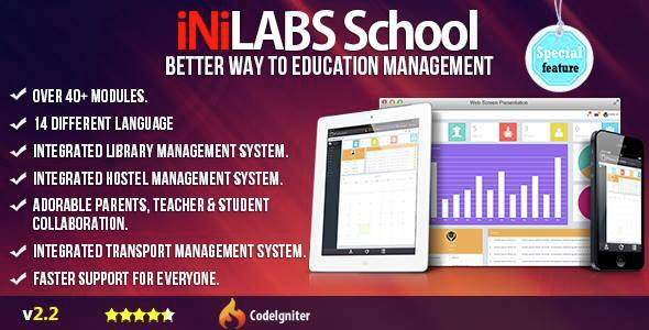 CodeCanyon - Inilabs v2.2 - School Management System Express PHP Script