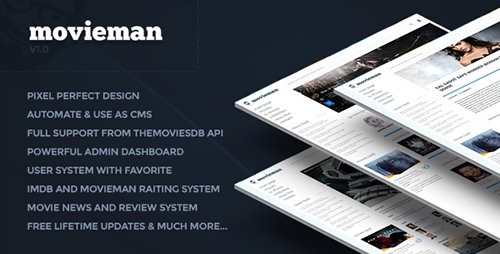 CodeCanyon - Movieman v0.1 - Premium Movies, TV Shows & News CMS PHP Script