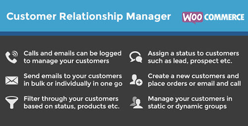 CodeCanyon - WooCommerce Customer Relationship Manager v3.1.4.6 - WordPress Plugin