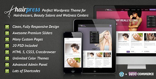 ThemeForest - HairPress v4.8.3 - WordPress Theme for Hair Salons