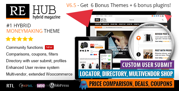 ThemeForest - REHub v6.5.2 - Directory, Shop, Coupon, Affiliate Theme