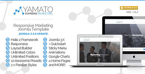 ThemeForest - Yamato v1.0 - Responsive Marketing Joomla Template