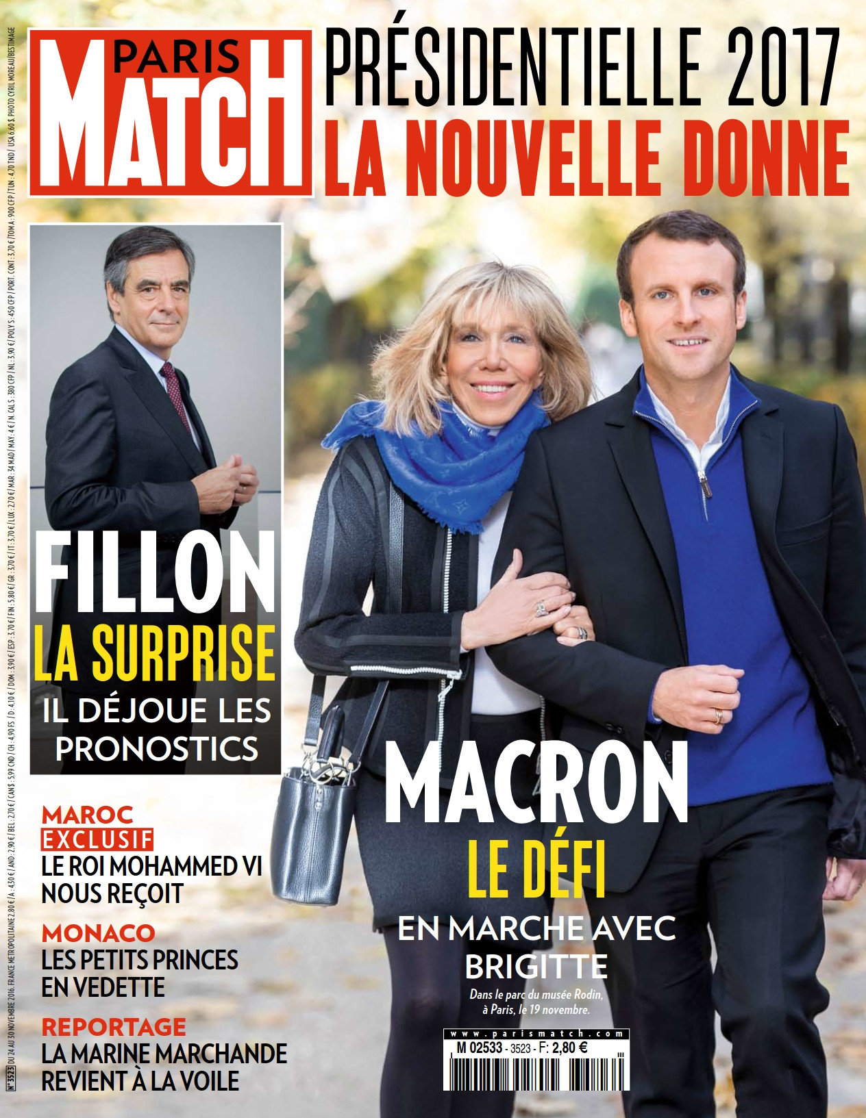 Paris Match N°3523 - 24 au 30 Novembre 2016