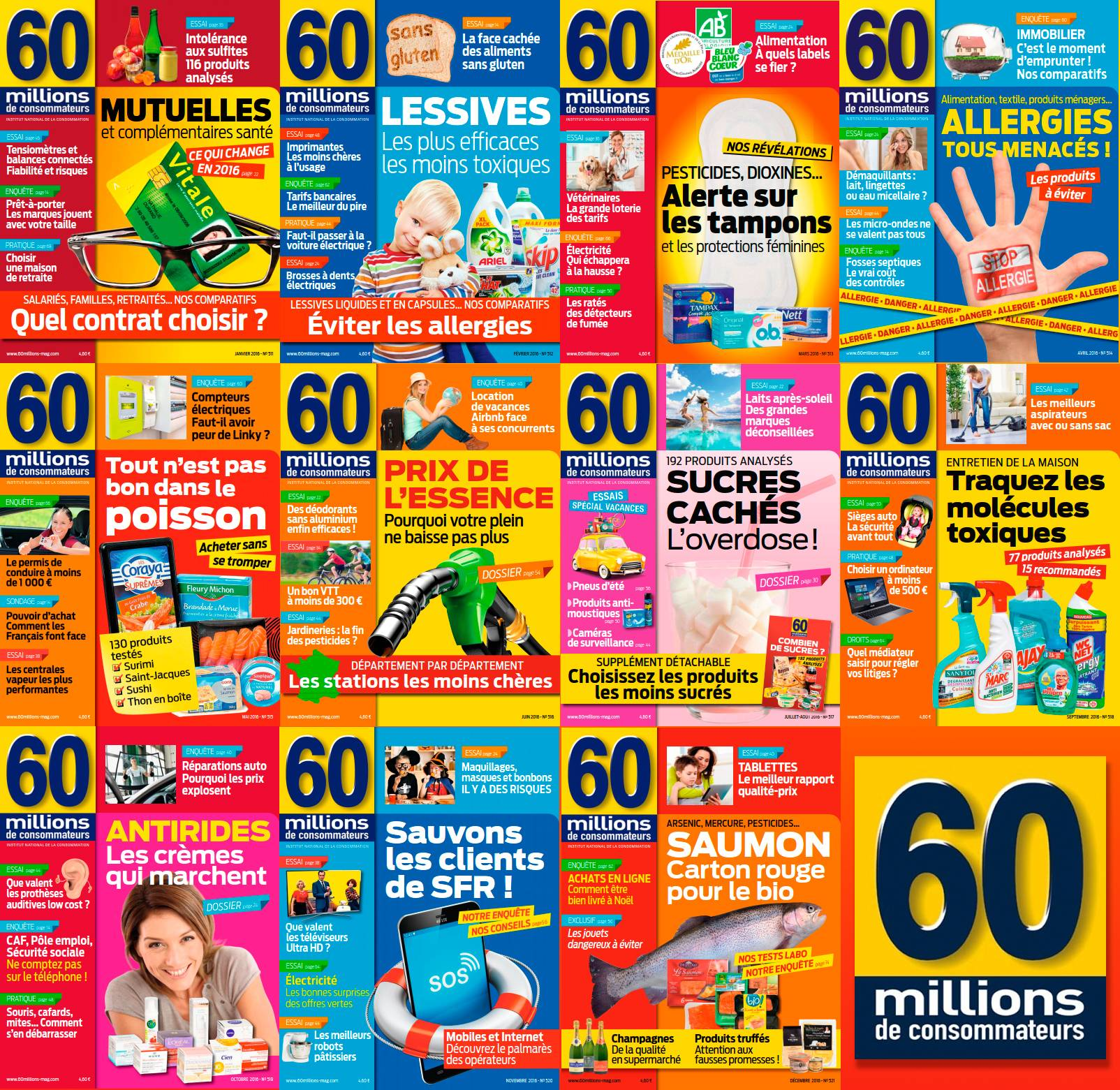 60 millions de consommateurs - Full Year 2016 Collection