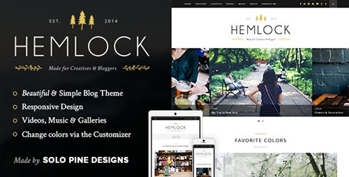 ThemeForest - Hemlock v1.5.3 - A Responsive WordPress Blog Theme