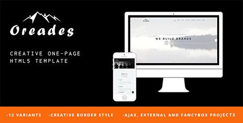 ThemeForest - Oreades - Creative One-Page HTML5 Template