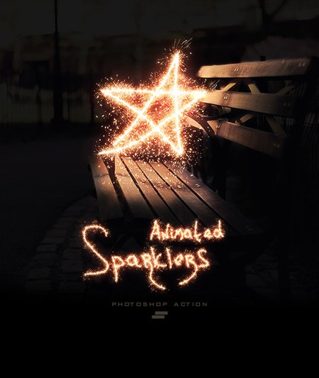 GraphicRiver - Gif Animated Sparkler Photoshop Action