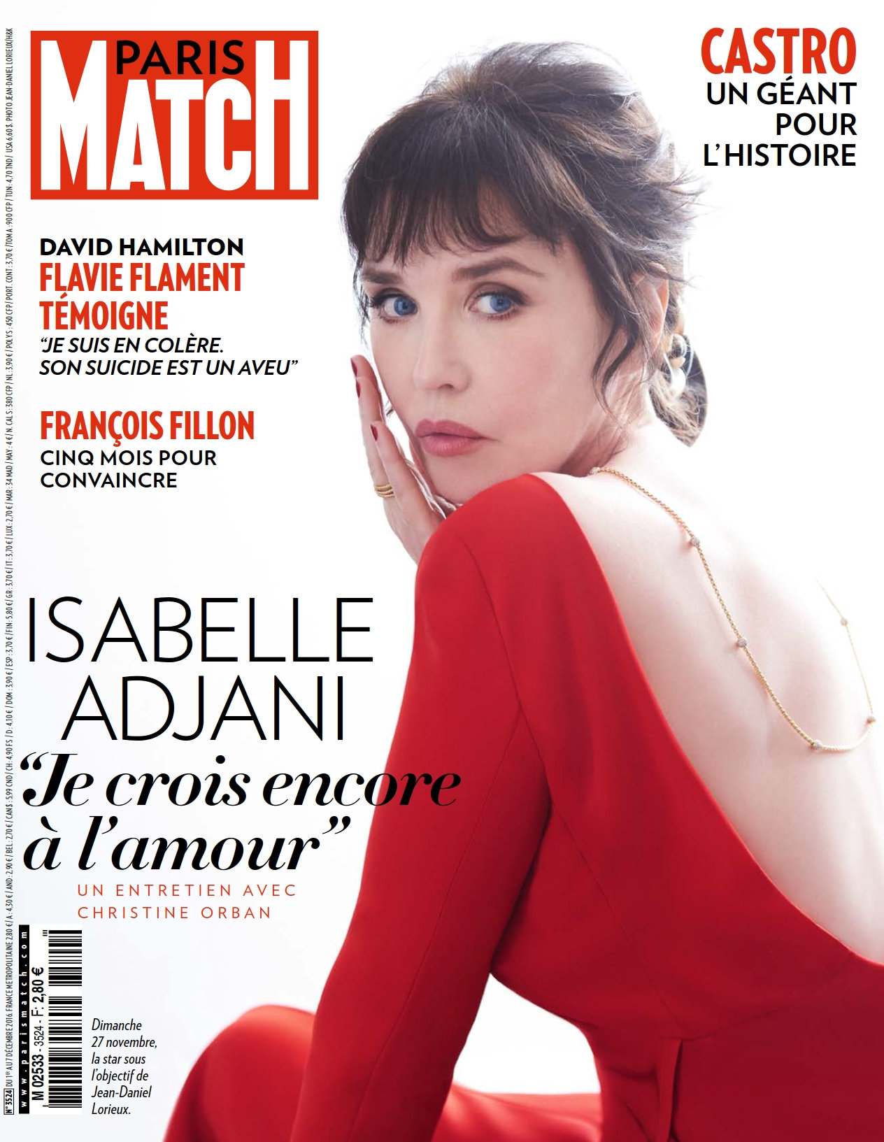 Paris Match N°3524 - 1 au 7 Décembre 2016