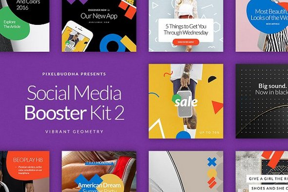 CreativeMarket - Social Media Booster Kit 2
