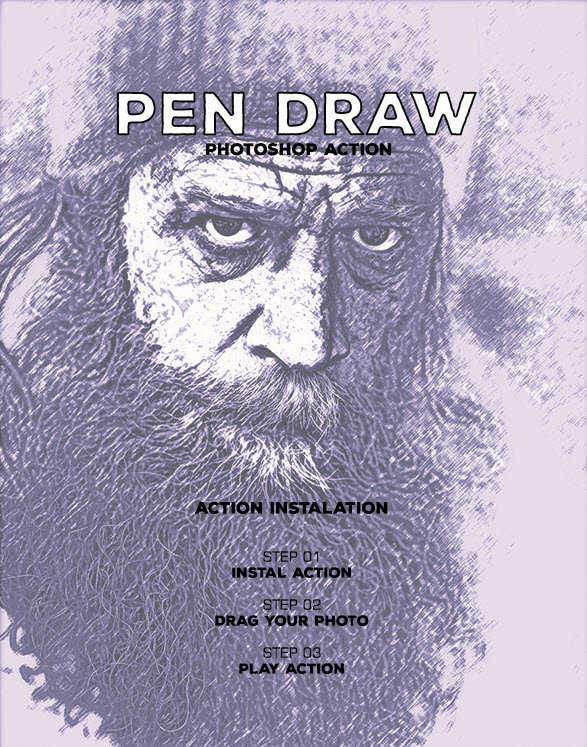 GraphicRiver - Pen Draw Master - Photoshop Action #45