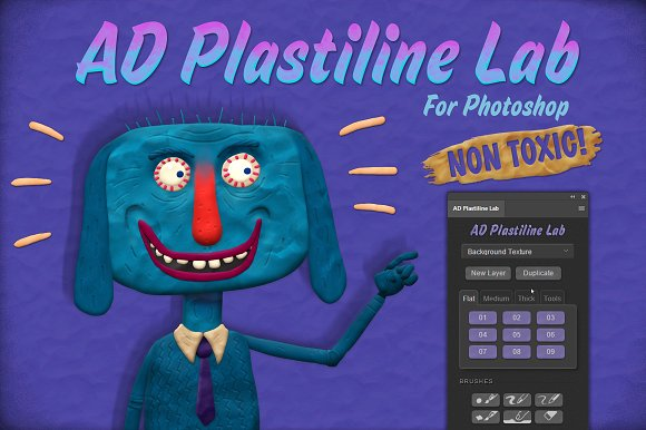 CreativeMarket - AD Plastiline Lab for Photoshop