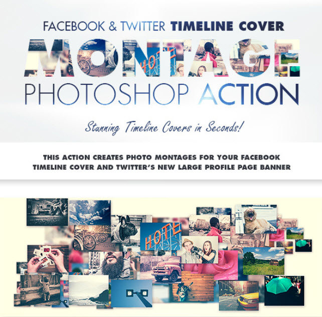 GraphicRiver - Facebook & Twitter Timeline Cover Montage Action