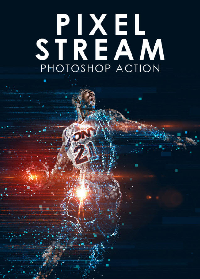 GraphicRiver - Pixel Stream Photoshop Action