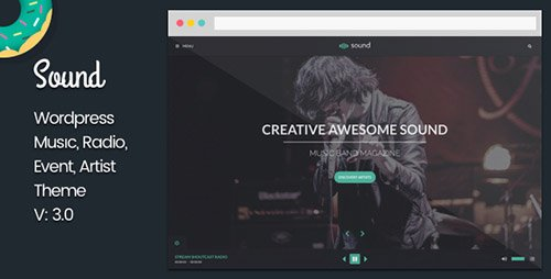 ThemeForest - Sound v1.4 - Music Theme - With Continuous Playback