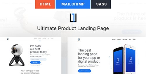 ThemeForest - One v1.0 - Ultimate Product Landing Page