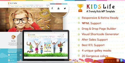 ThemeForest - Kids Life v1.6.2 - Children WordPress Theme