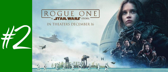 #2 : Rogue One : A Star Wars Story de Gareth Edwards
