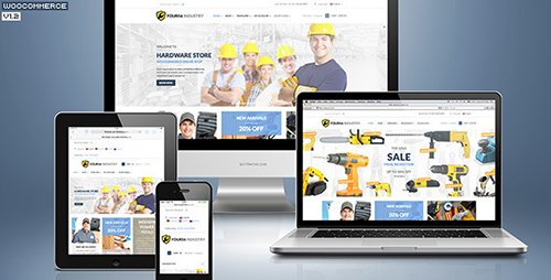 ThemeForest - 456 Industry v1.4.3 - Repair Tools Shop & Construction / Building / Renovation WP Theme