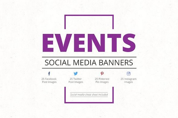 CreativeMarket - Events Social Media Banners