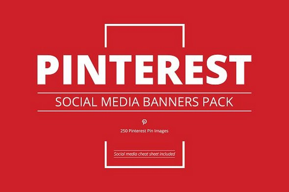 CreativeMarket - Pinterest Social Media Banners Pack