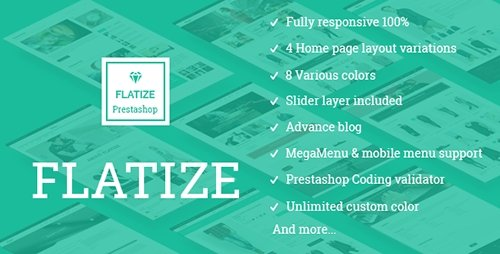 ThemeForest - JMS Flatize v1.1.0 - Fashion Responsive Prestashop Theme