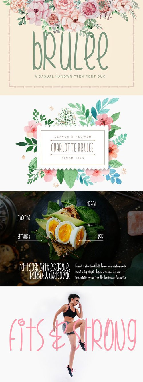 CreativeMarket - Brulee Font Duo