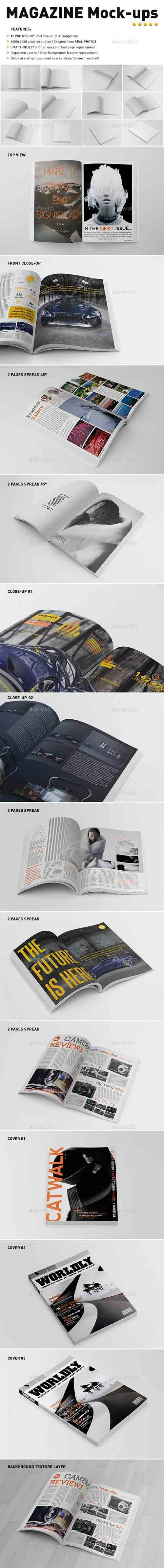 GraphicRiver - Photorealistic Magazine Mock-Ups