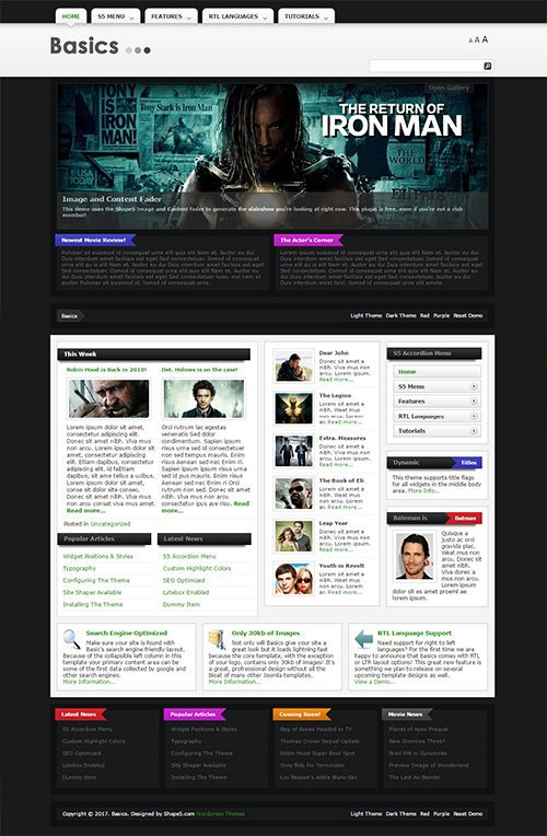 Shape5 - Basics v1.0 - Wordpress Club Theme