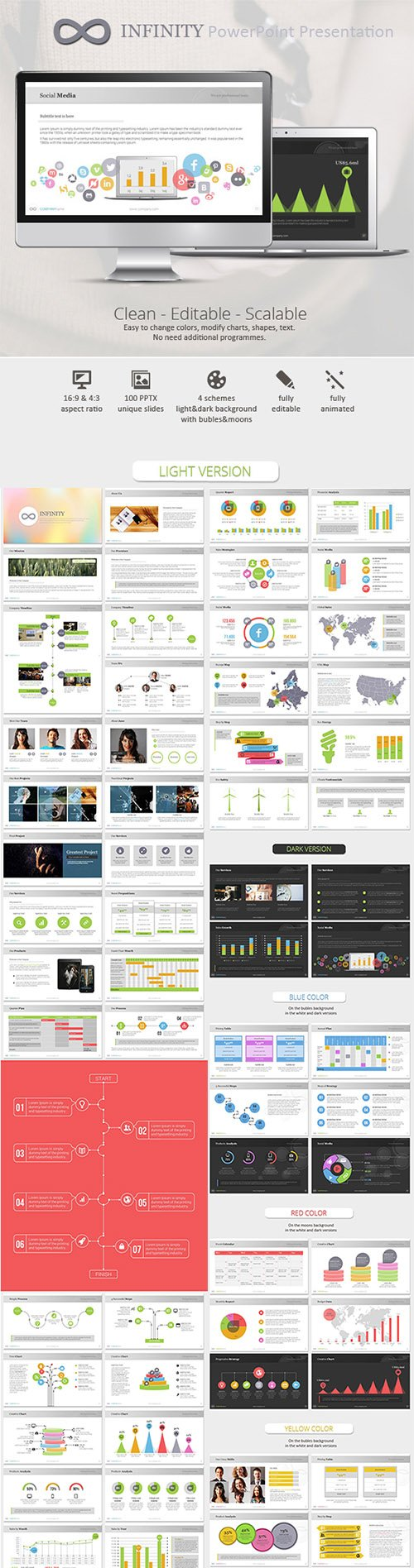 GraphicRiver - Infinity Colors PowerPoint Presentation Template