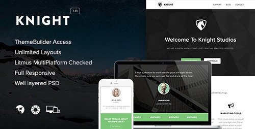 ThemeForest - Knight v1.0 - Responsive Email + Themebuilder Access