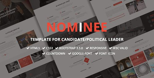 ThemeForest - Nominee v1.0 - Template for Candidate/Political Leader