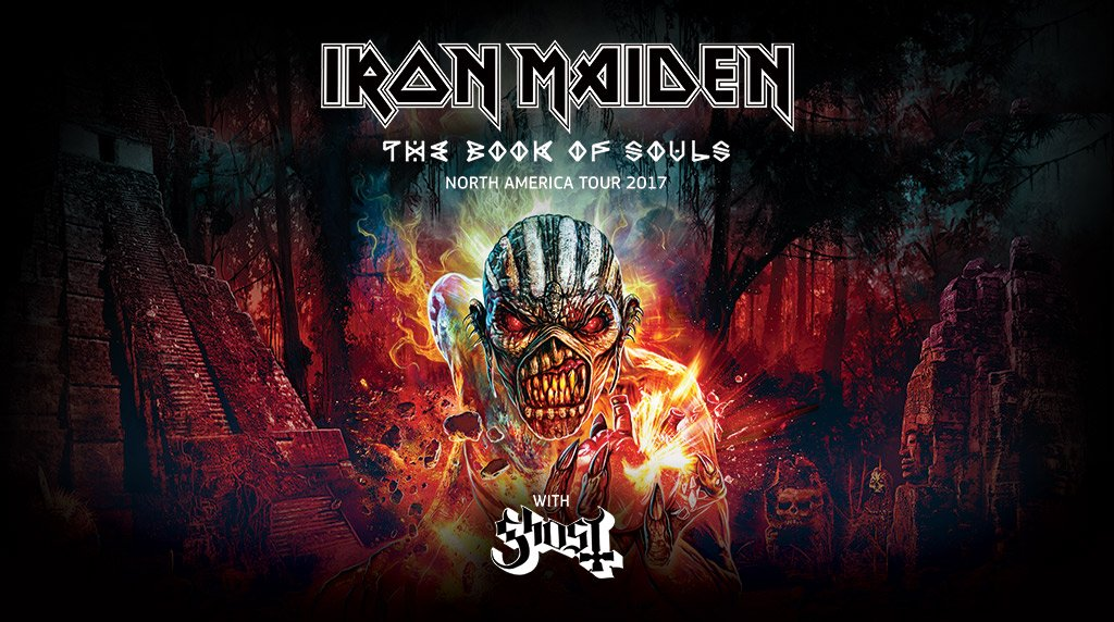 Iron Maiden : The Book Of Souls North American Tour 2017
