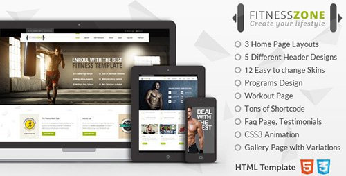 ThemeForest - Fitness Zone - Sports Template for Gym & Fitness (Update: 28 June 15)