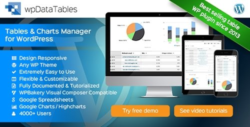 CodeCanyon - wpDataTables v1.7.1 - Tables and Charts Manager for WordPress