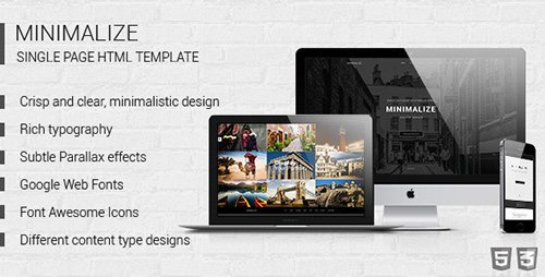 ThemeForest - Minimalize - Multipurpose One Page Template (Update: 8 October 14)