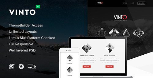 ThemeForest - Vinto v1.1 - Responsive Email + Themebuilder Access