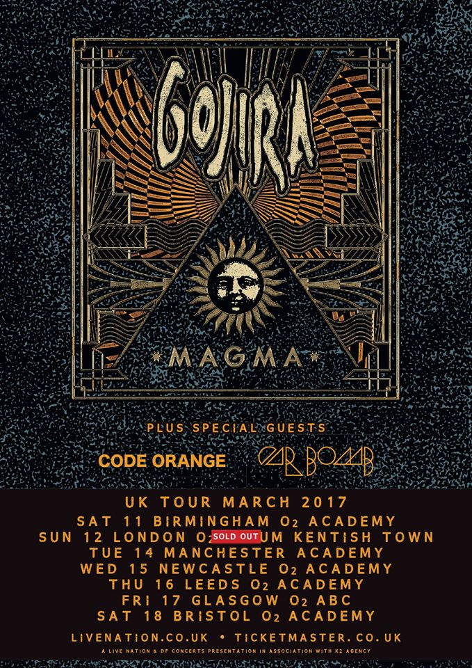 Gojira : UK Tour