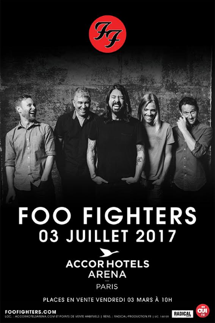 Foo Fighters - AccorHotels Arena 2017