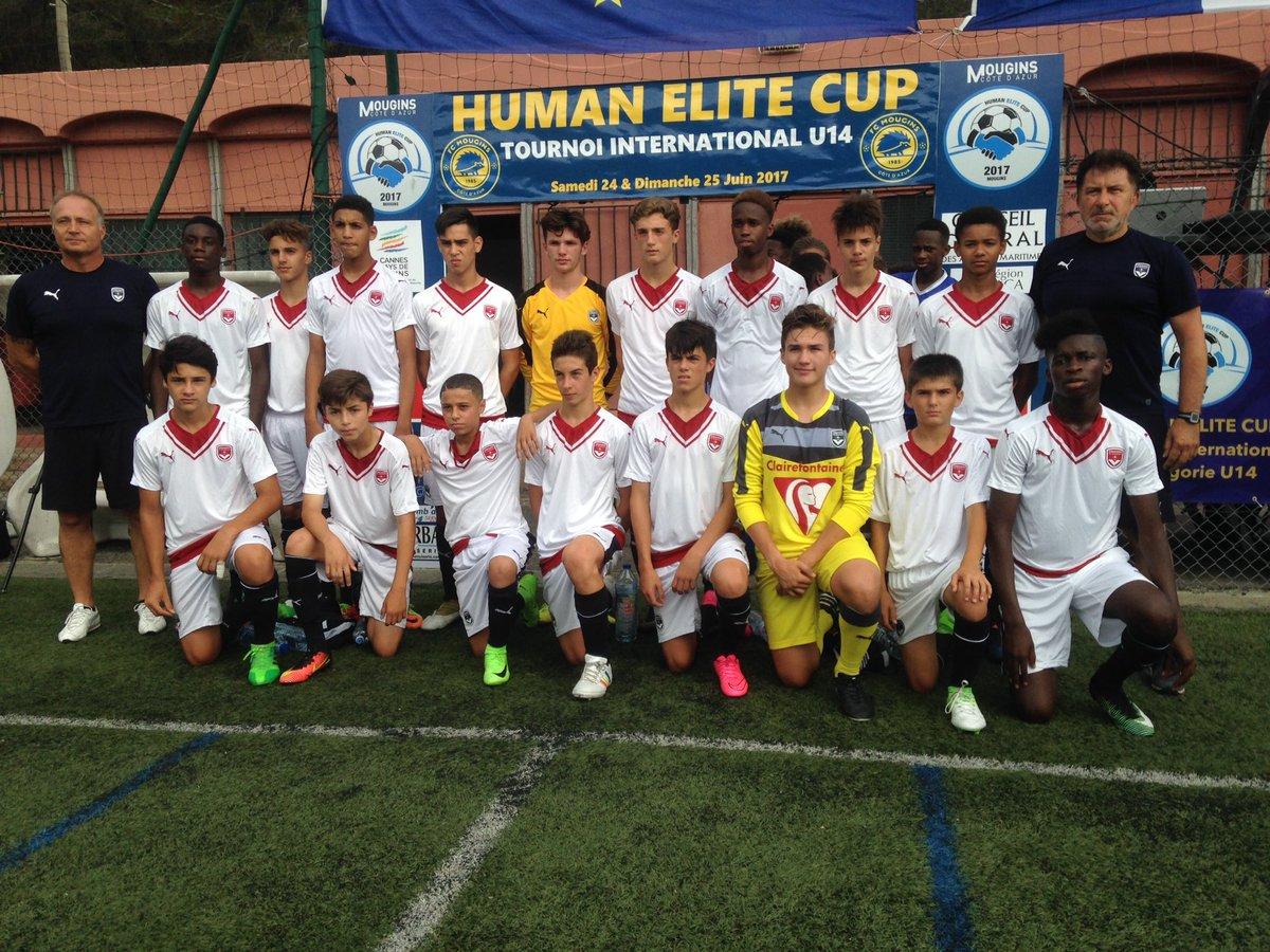 Cfa Girondins : Les U14 11èmes de la Human Elite Cup Côte d'Azur - Formation Girondins