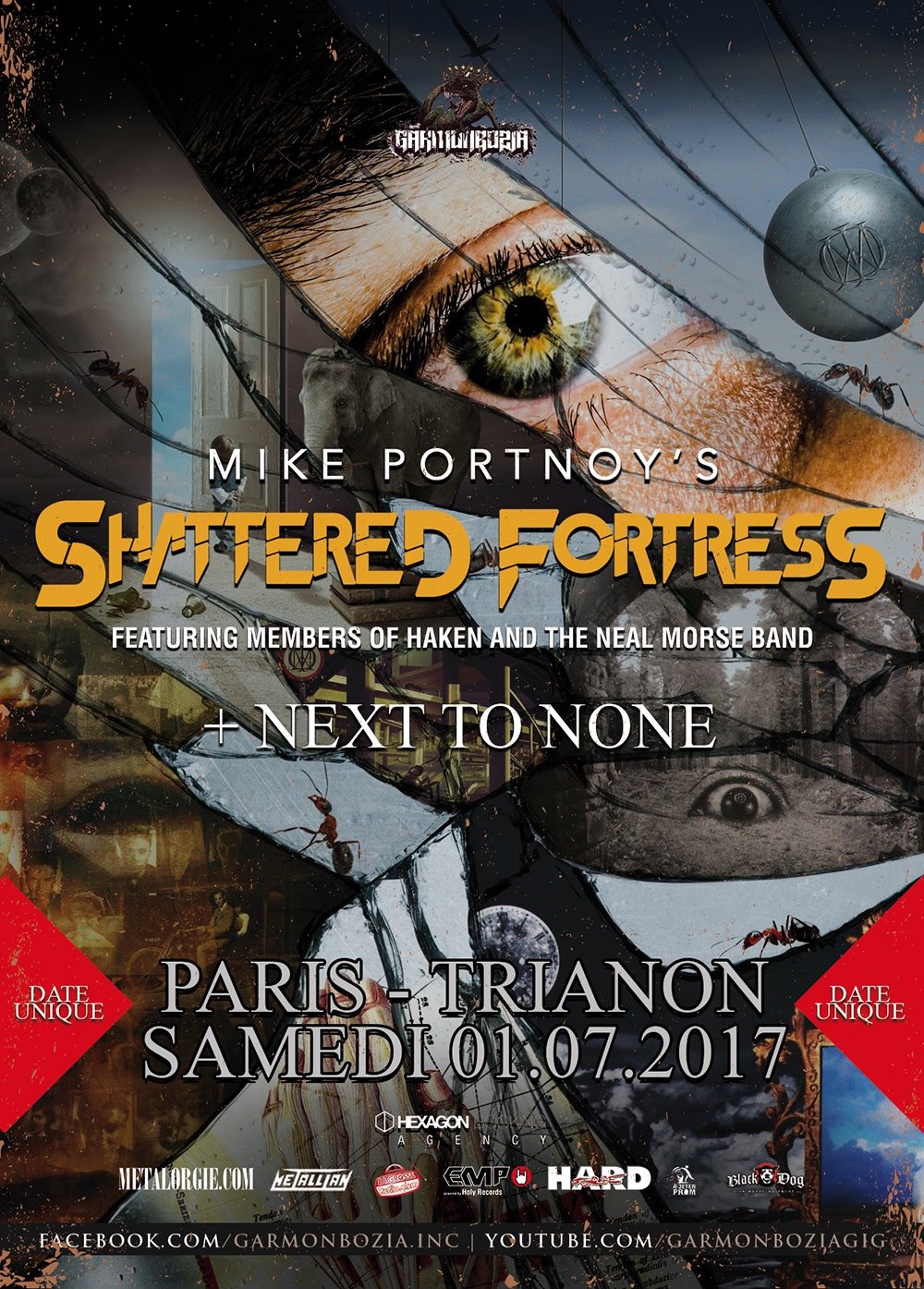 Mike Portnoy's Shattered Fortress - Paris, Le Trianon - 1er juillet 2017