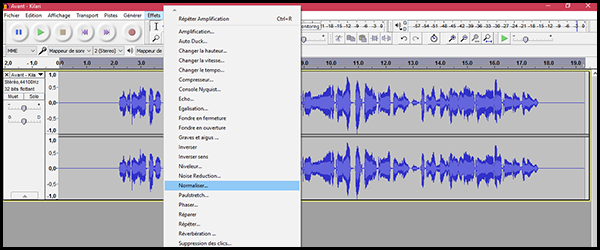 [Audacity] Normaliser, désaturer ou amplifier un enregistrement 4exs