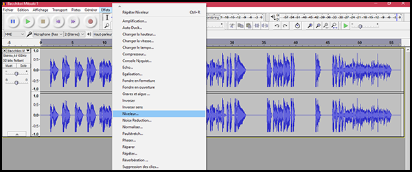 [Audacity] Normaliser, désaturer ou amplifier un enregistrement A0g0