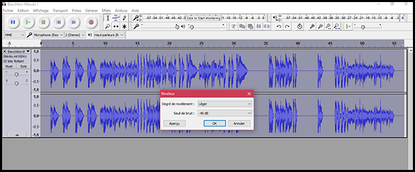 [Audacity] Normaliser, désaturer ou amplifier un enregistrement Q03z