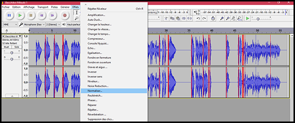 [Audacity] Normaliser, désaturer ou amplifier un enregistrement Q5x9