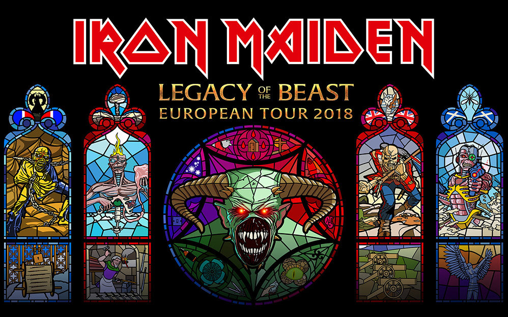 Iron Maiden : Legacy Of The Beast European Tour 2018