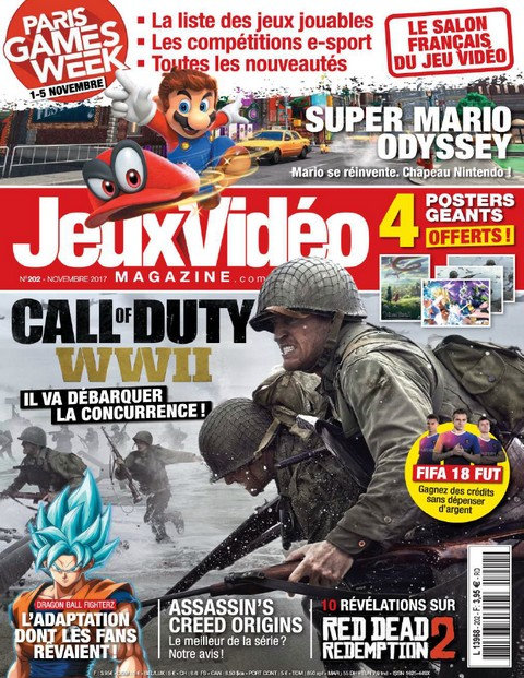 Jeux Video Magazine N°202 - Novembre 2017 sur Bookys