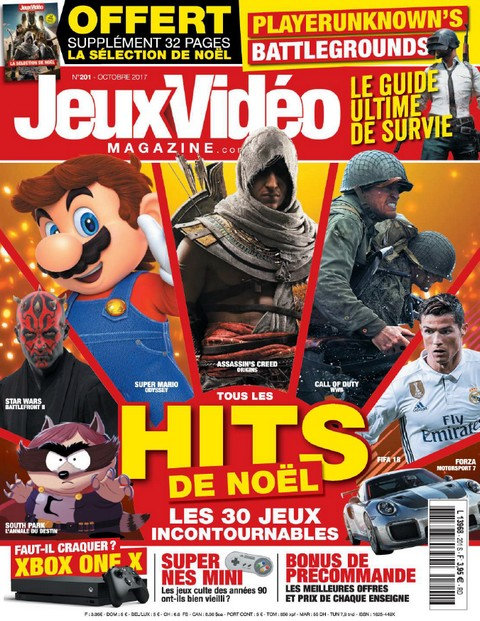 Jeux Video Magazine N°201 - Octobre 2017 sur Bookys